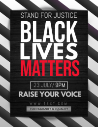 Black lives flyers,Social issues, template