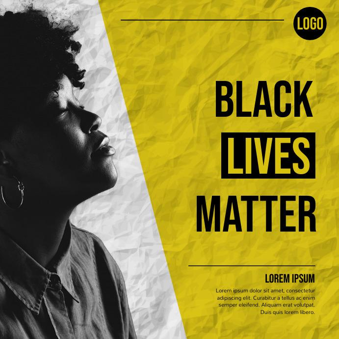 black lives matter, black history month Instagram Post template