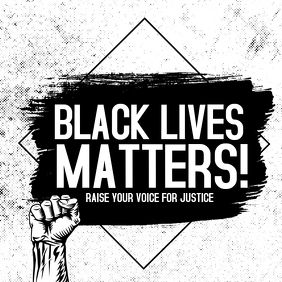 Black lives matter,Human rights,social issues Square (1:1) template