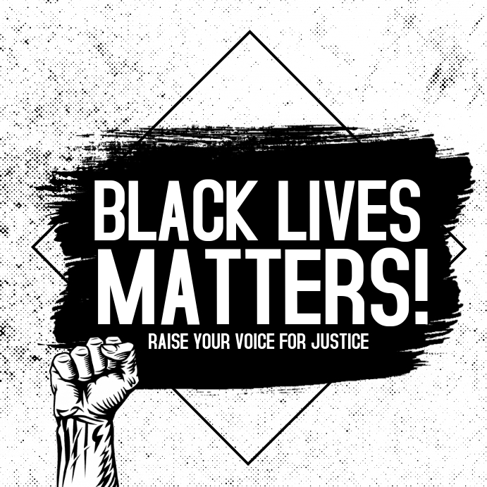 Black lives matter,Human rights,social issues Vierkant (1:1) template