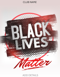 Black lives matter,social issues ,Human right Flyer (US Letter) template