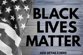 Black Lives Matter Banner Template