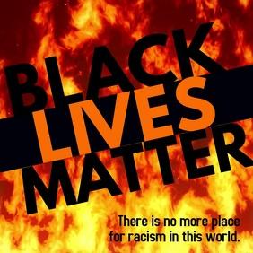 Black lives matter burning fire instagram vid template