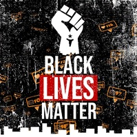 Black Lives Matter Campaign Message Instagram template