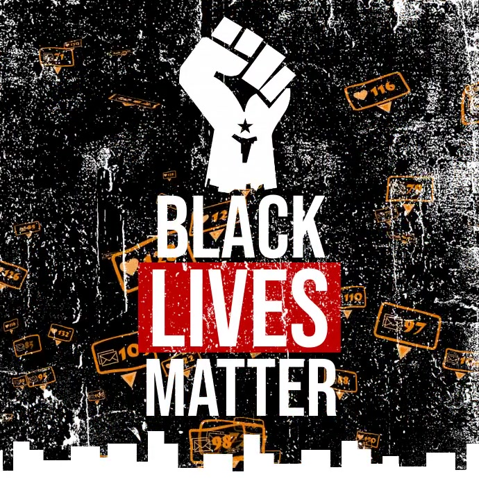 Black Lives Matter Campaign Pos Instagram template