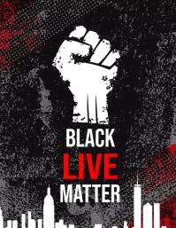 Black Lives Matter Campaign Flyer Volantino (US Letter) template