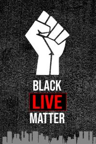Black Lives Matter Campaign Poster template