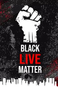 Black Lives Matter Campaign Poster 海报 template