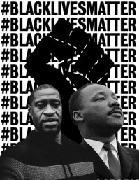 black lives matter Рекламная листовка (US Letter) template