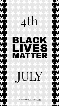 Black lives matter Instagram Story template