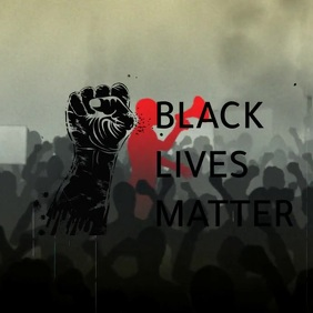 black lives matter Logótipo template