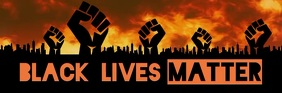 Black Lives Matter email header template ส่วนหัวอีเมล