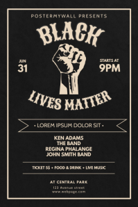 Black Lives Matter Event Flyer Template