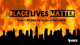 Black Lives Matter facebook cover fire video template
