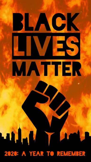 Black Lives Matter fire video instagram story template