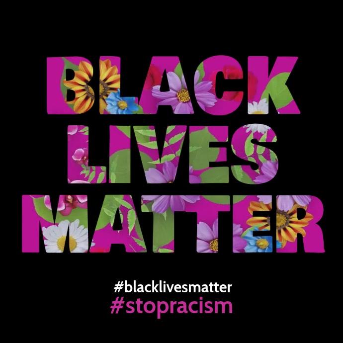 Black Lives Matter Flowers animation video