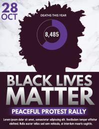 Black lives matter flyer, Social issues template