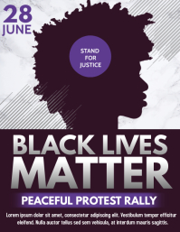 Black lives matter flyer, Social issues