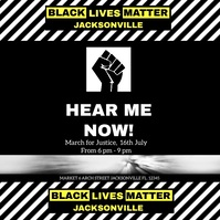 Black lives matter flyer,Human rights Square (1:1) template