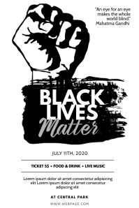 Black Lives Matter Flyer Design Template Poster
