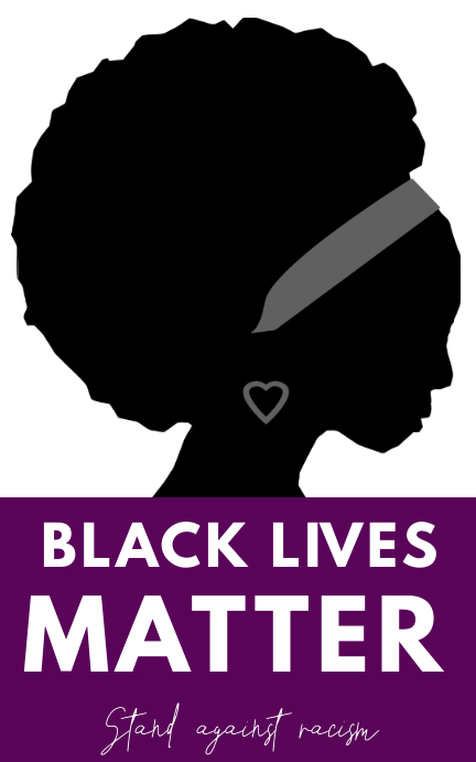 BLACK LIVES MATTER FLYER Sampul Buku template