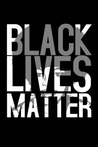 Black lives matter poster template