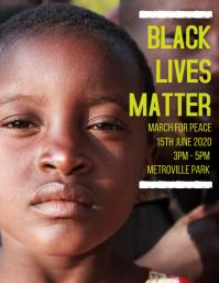 Black Lives Matter Flyer Template