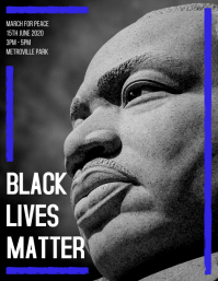Black Lives Matter Flyer Template