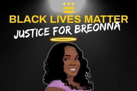 Black Lives Matter for Breonna Template
