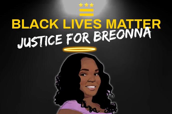 Black Lives Matter for Breonna Template
