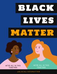 Black Lives Matter Illustration Flyer