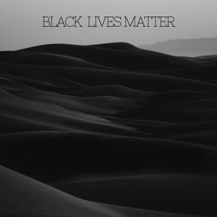BLACK LIVES MATTER Instagram Post Instagram-opslag template