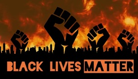 Black Lives Matter No Justice No Peace header Blog overskrift template