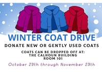 Winter coat drive fundraising event Kartu Pos template