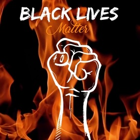 Black Lives Matter Square Template Isikwele (1:1)