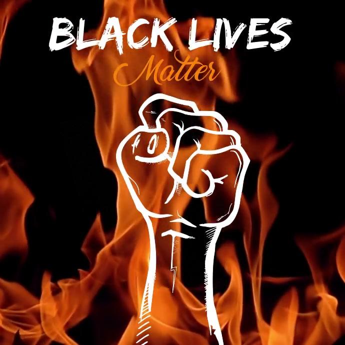Black Lives Matter Square Template Persegi (1:1)