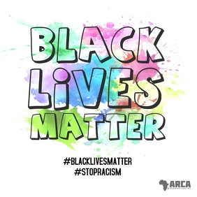 Black Lives Matter Stop Racism color Video Instagram Post template