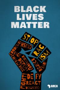 Black Lives Matter Stop Racism Fight Poster Plakat template