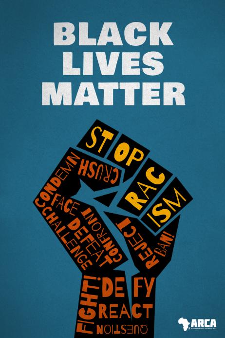 Black Lives Matter Stop Racism Fight Poster