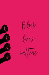BLACK LIVES MATTER TEMPLATE 小报