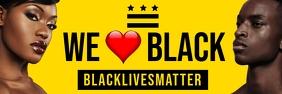 Black Lives Matter Template Spanduk 2' × 6'