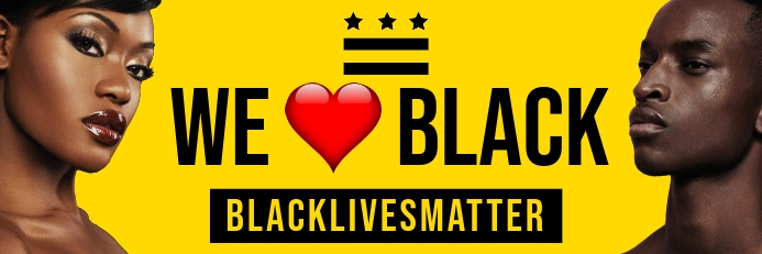 Black Lives Matter Template Banner 2 x 6 fod