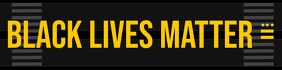 Black Lives Matter Template Banner 2 × 8