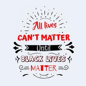 Black Lives Matter Typographical Instagram Po