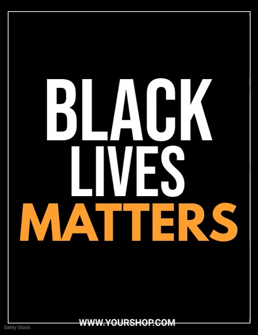 black lives matters, anti racism Pamflet (Letter AS) template