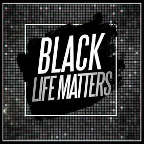 black lives matters, anti racism Persegi (1:1) template