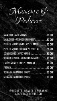 Black Marble Fashion Pricelist Price List Affichage numérique (9:16) template