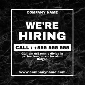 black marble generic hiring advertisement ins