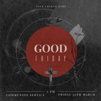 Black Ministry Good Friday Instagram Post Tem template