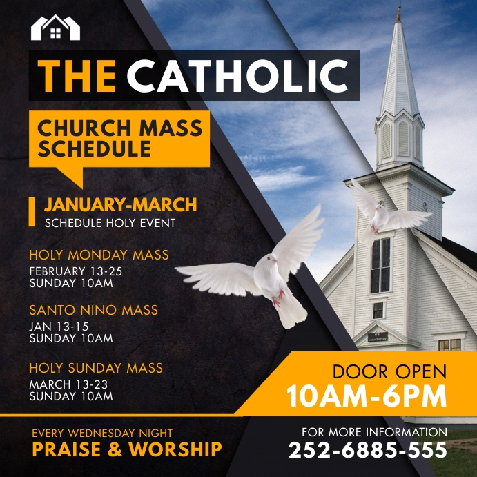 Black Ministry Mass Schedule Instagram Post T template